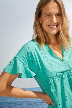 Womensecret Short green short-sleeved dress green