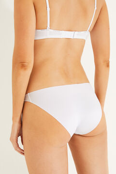 Womensecret 2 microfiber classic panties pack white