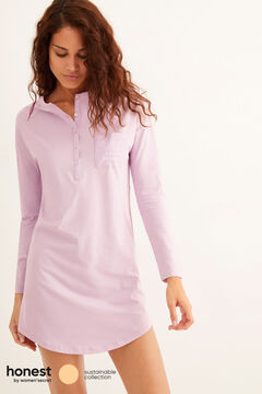 Womensecret Short pink organic cotton nightgown blue