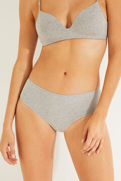 Womensecret 3 cotton panties pack grey