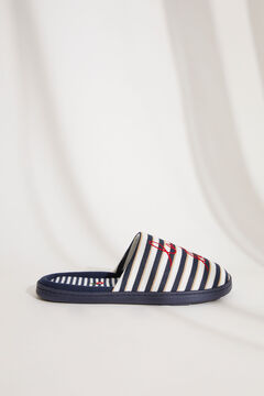 Womensecret Sailor stripes slippers blue