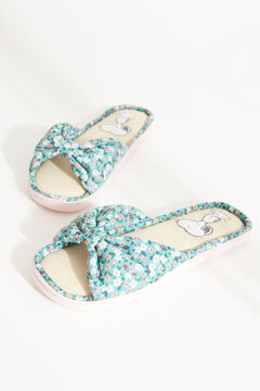Womensecret Snoopy green bow flip-flops with floral print printed