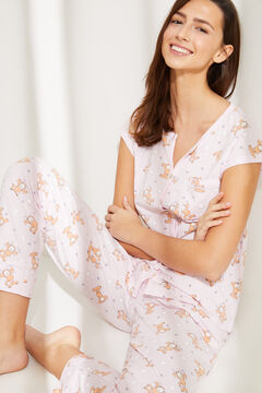 Womensecret Long cotton Garfield  pyjamas pink