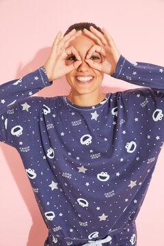 Womensecret Long blue cotton Cookie Monster pyjamas blue