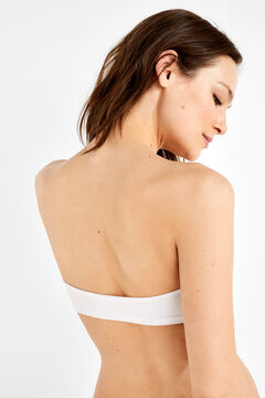 Womensecret Bandeau wireless bra fehér