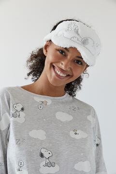 Womensecret Pijama comprido algodão cinzento Snoopy 100% algodão cinzento