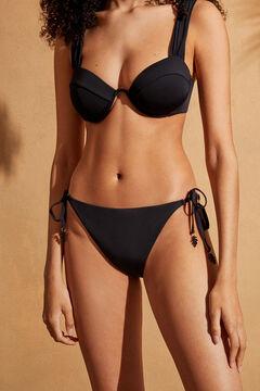 Womensecret Classic black bikini bottoms with bead detail black