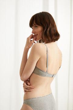 Womensecret Organic cotton triangle bra grey