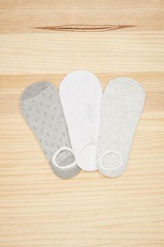 Womensecret 3-pack grey no-show socks grey