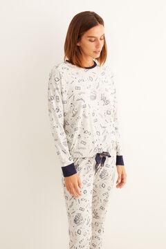 Womensecret Pijama comprido algodão Harry Potter cinzento azul