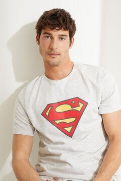 Womensecret Pijama corto de manga corta Superman gris gris