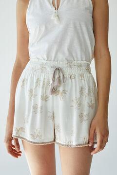 Womensecret Palm tree shorts nude