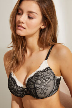 Womensecret BEAUTIFUL Classic padded bra lace neckline black