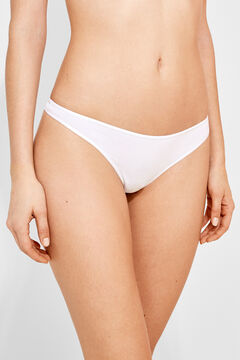 Womensecret 3 cotton thongs pack white