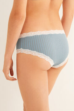 Womensecret Organic cotton Brazilian boyshort panty blue