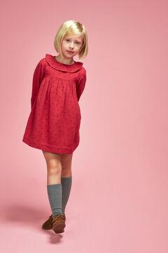 Womensecret Vestido Gasa Florecitas niña rojo