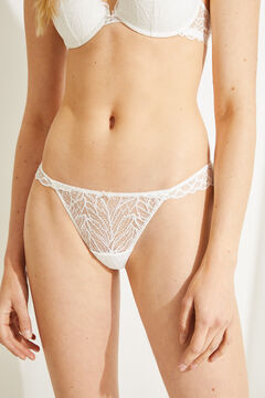 Womensecret White lace tanga white