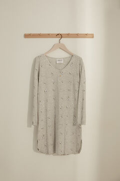 Womensecret Camisa de dormir Maternity Snoopy cinzento