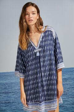 Womensecret Blue tie dye wide sleeve camisole blue