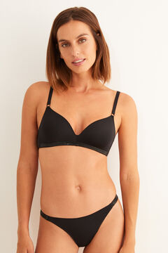 Womensecret Tulle non-wired triangle bra black