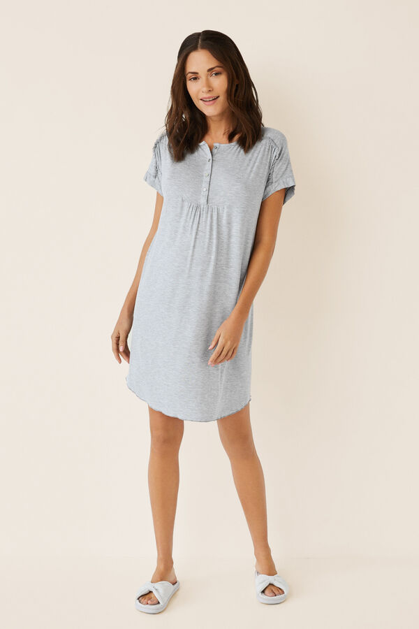 3c8811b729b1e Short basic maternity nightgown | Maternity | Women'secret