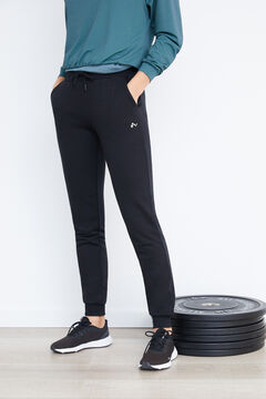 Womensecret Pantalón deportivo negro