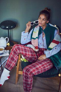Womensecret Long flannel heart pyjama bottoms printed
