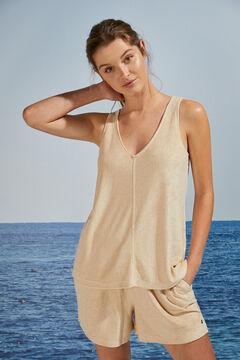 Womensecret Short comfy vest pyjamas  nude