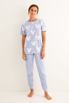 Womensecret Long Mickey short-sleeved pyjamas blue