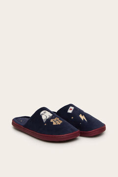 Womensecret Zapatilla casa destalonada navy Harry Potter azul