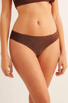 Womensecret Shiny Brazilian bikini bottoms pink