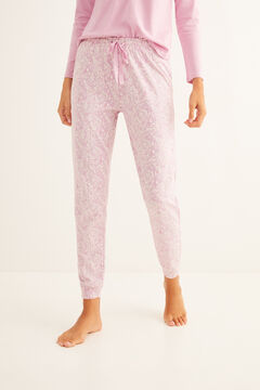 Womensecret Long printed pink pyjama bottoms pink