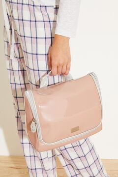 Womensecret Large pink vanity case with hanger pink