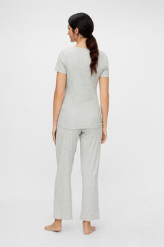 Womensecret Organic cotton maternity pyjama set  gris
