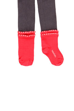 Womensecret Leotardo con calcetín de bebé y niña gris