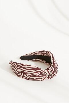 Womensecret Zebra print knot-front headband white