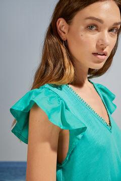 Womensecret Short green flounced strappy dress green