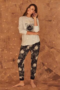 Womensecret Long cotton Marauder's Map pyjamas grey