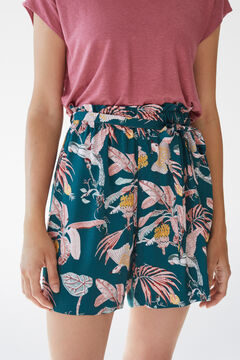 Womensecret Pantalon court tropical vert