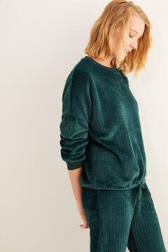 Womensecret Pyjama long vert ajouré vert