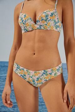 Womensecret Floral brazilian bikini bottoms white