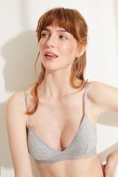 Womensecret Soutien triangular algodão orgânico cinzento cinzento