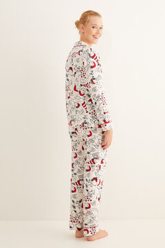 Womensecret Pyjama lang Hemdlook Snoopy-Print weiß
