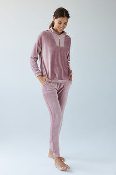 Womensecret Long pink velour top pink