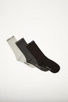 Womensecret Pack of 3 high cut socks printed