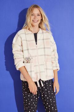 Womensecret Short sponge fleece robe pink