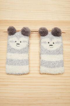 Womensecret Fluffy grey sloth socks grey