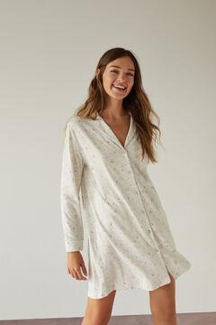 Womensecret Grey nightshirt in 100% organic cotton with moon design grey