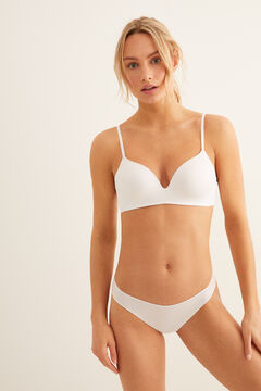 Womensecret Soutien-gorge triangle push-up blanc