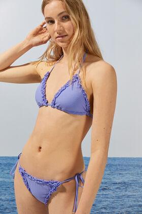 Womensecret Floral triangle bikini top pink